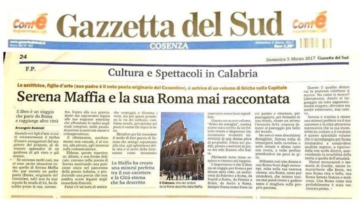 gazzetta del sud serena maffia roma mi somiglia