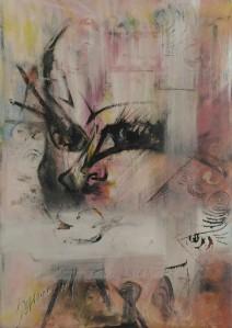Serena Maffia, Saffo, tec mix su tela cm 50 x 70