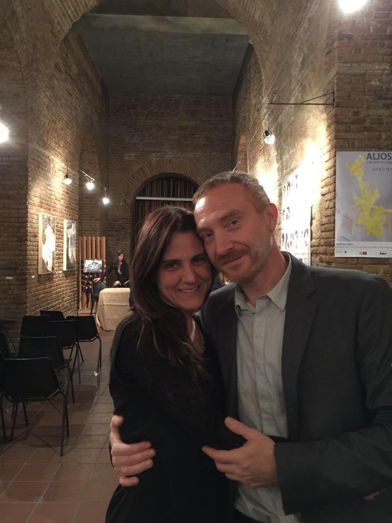 la scrittrice Serena Maffia e il fotografo Fabio Pentassuglia