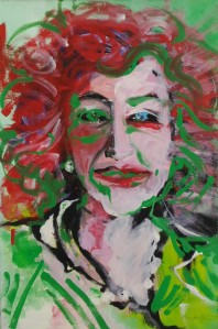 Serena Maffia, Maria Luisa Spaziani, tec mix su tela cm 40 x 60