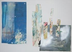 Serena Maffia _ Fra cielo e terra tec mix su tela 50x70