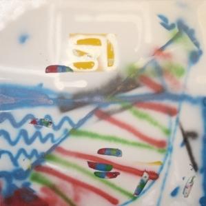 serena maffia barca tec mix su tela 70x70