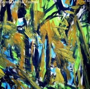 serena maffia foresta tec mix su tela 100x100