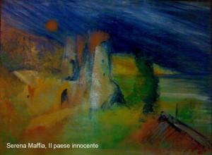 Serena Maffia Il paese innocente tec mix su tela cm 70x50