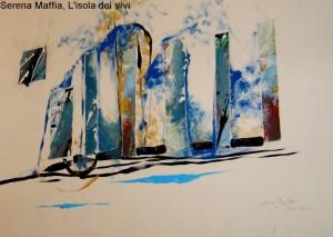 Serena Maffia, L'isola dei vivi, tec mix su tela 70x50
