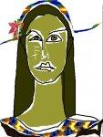 Serena Maffia autoritratto grafica computer