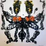 serena maffia ballerine tec mix su tela 100x100 collezione Capri